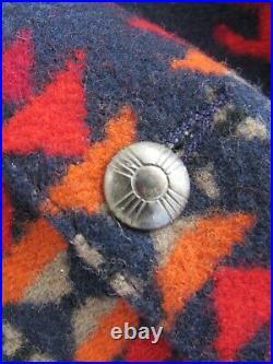 VTG Pendleton High Grade Western Wear Navy Southwest Native Wool Vest Sz 42