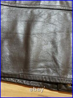 VTG RARE! NUDIE'S Cohen RODEO TAILORS CUSTOM MADE Mens DK Brown Leather Vest L