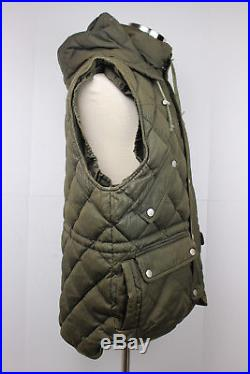 VTG Rare Willis Geiger Bush Poplin Quilted Down Hooded Expedition Vest Wool M 1