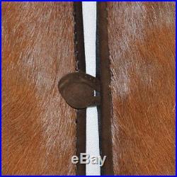 VTG Rugged Leather Cowhide Fur Suede Cowboy Western Lined Vest Brown Tan Pockets