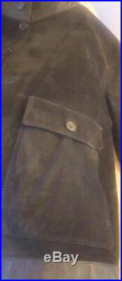 Valstar REDUCED black reindeer+leather pocketed jacket/blazer/bomber-sz L, XL