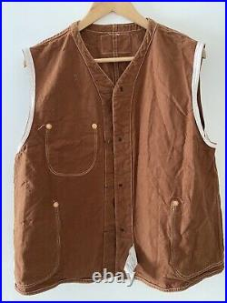 Very Rare Levis Vintage Clothing 70250 1410 Cotton Duck Hunter Vest Made In USA