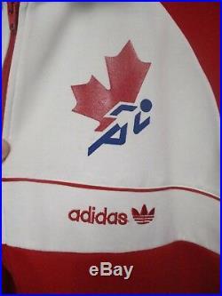 Veste ADIDAS CANADA Athlétisme vintage 80's tracktop jacket giacca sport rare M