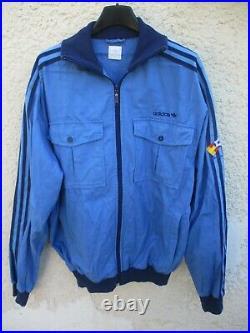 Veste ADIDAS ESPANA 82 rétro vintage jacket giacca jacke felpa bleu L