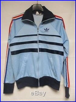 Veste ADIDAS FIRST vintage équipe de FRANCE Mundial 82 tracktop jacket 162 XS D3