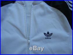 Veste Adidas Blanche et marine Ventex Vintage Made in France Jacket 70'S L