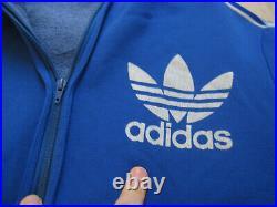 Veste Adidas Capuche Trefoil Bleu Ventex 70'S Vintage Jacket homme 180 / L