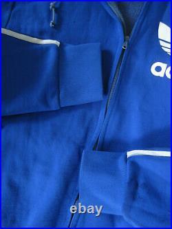 Veste Adidas Capuche Trefoil Bleu Ventex France 70'S Vintage Jacket 168 / S