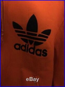Veste Adidas Capuche Trefoil Orange Ventex France 70'S Vintage Jacket S