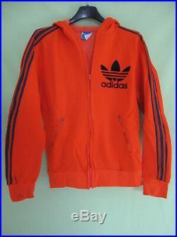 Veste Adidas Ventex Tricolore Trefoil 70'S Orange Vintage Jacket 168 / S