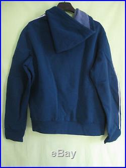 Veste Adidas à Capuche Trefoil Marine Ventex France 70'S Vintage Jacket M