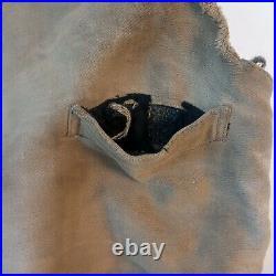 Vintage 1900s Buckleback Work Vest Blanket Lined Beat Thrashed Stained Dusty