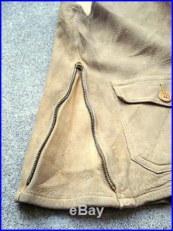Vintage 1920'S Macy's Suede Leather Vest TALON HOOKLESS Zipper 20'S 30'S