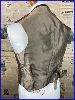 Vintage 1930's heavy brown wool waistcoat size 40