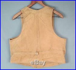 Vintage 1930s Duxbak Shooting Field Vest Buckle-Back Shell Pockets Hunting Trap