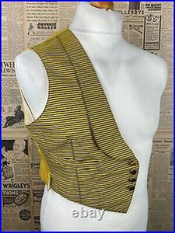 Vintage 1939 bespoke evening club waistcoat Savile Row size 34 36