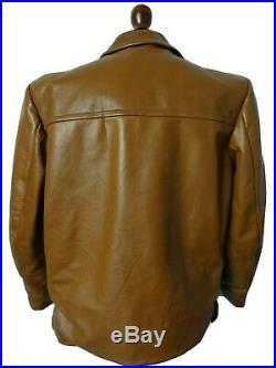 Vintage 1940's Horsehide Leather Biker Sports Jacket Car Coat 42 Medium