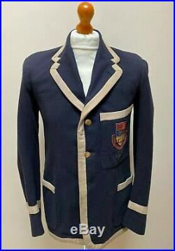 Vintage 1940's navy blue taped edge blazer size 38