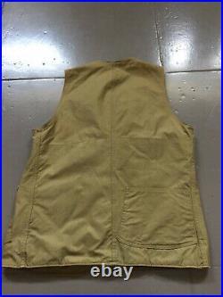 Vintage 1940s Hinson Garments Half Moon Canvas Hunting Fishing Workwear Vest 40