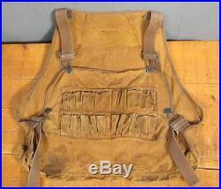 Vintage 1940s Masland Canvas Duck Hunters Shooting Vest Hunting Shell Pocket Bib