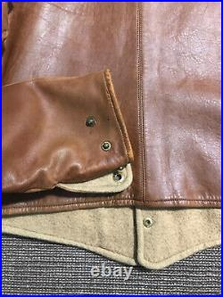 Vintage 1940s WWII British Army Leather Tank Waistcoat Jacket