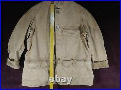 Vintage 1946 Duxbak Field Canvas Hunting Jacket Mohawk Style 12-10 & Strap Vest
