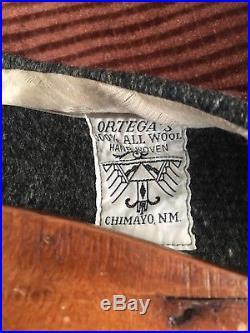 Vintage 1950s Ortegas Chimayo Hand Woven Vest