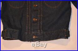 Vintage 1954 Sears Roebucks Denim Jacket! Deep Color! 11 Oz Coarse Weave 40-42