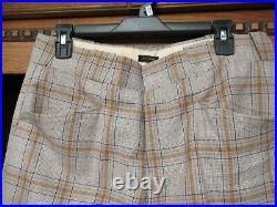 Vintage 1960's 1970's 3 piece plaid suit jacket 40 32 w pants vest set Mod Disco