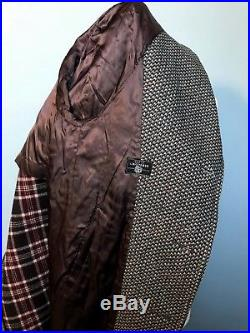 Vintage 1960's Dunn & Co. Raglan sleeve Crombie tweed overcoat size 42 short