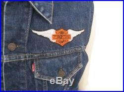 Vintage 1960s LEVI'S 558 XX Big E Denim Jean Jacket VEST Size 44