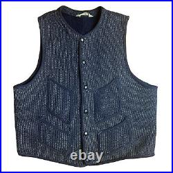 Vintage 30s / 40s Brown's Beach Cloth Jacket Salt and Pepper Sz SMALL Vest Wool