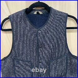 Vintage 30s/40s Brown's Beach Cloth Jacket Salt and Pepper Vest Wool Snap Sz 40