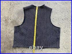 Vintage 40s Browns Beach Vest Workwear Jacket Chore Coat Denim Stifel Antique