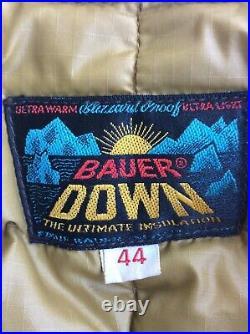 Vintage 60s Eddie Bauer BAUER DOWN Goose Down Zipper Vest Sz 44