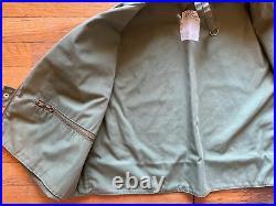 Vintage 60s LL Bean Fly Fishing Vest Green Large XL Cursive Script Freeport USA
