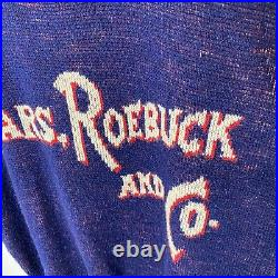 Vintage 60s Sears Roebuck And Co Spell Out Sweater Vest Size L Rare