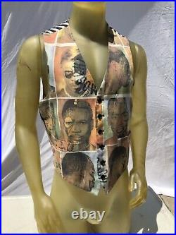 Vintage 90's MOSCHINO Cheap and Chic African faces vest size 40 M/L vest