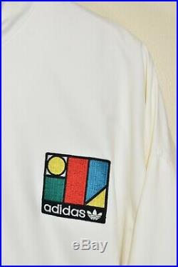 Vintage Adidas Ivan Lendl Tracksuit Track Top Jacket Veste Geometric size LARGE