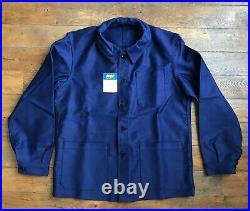Vintage Ancienne French Moleskine Bleu de Travail Work Jacket Chore Veste NOS