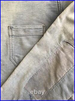 Vintage Ancienne Moleskine French Bleu de Travail Work Jacket Chore Hobo Veste