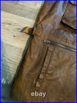 Vintage Banana Republic Leather Vest SIZE MEDIUM
