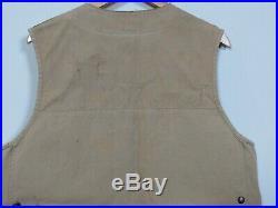Vintage CC FILSON Shooting VEST 44 Mens Hunting Canvas Tin Cloth OLD Rare TAG