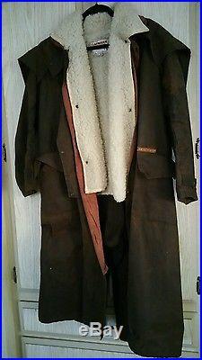Vintage Claybourn Oilskin coat with all wool liner vest size 4