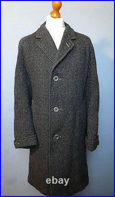 Vintage Dunn & Co. 1960's tweed Raglan sleeve overcoat size 44