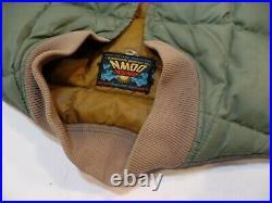 Vintage Eddie Bauer Goose Down Quilted Vest Sz 40 Green Talon Zipper Puffer USA