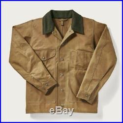 Vintage FILSON Wax Jacket (Tin Cloth, Tan, Men's Small)