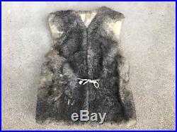 Vintage FUR With Windstopper Mountain Man Rustic Men's Vest Sherpa Jacket Size S