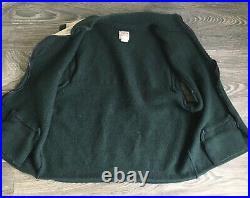 Vintage Filson Wool Vest Cloth Cape Full Zip Old Tag Mens L Green & Tan RARE USA