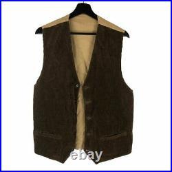 Vintage French Gilet de Chasse Corduroy Hunting Work Vest